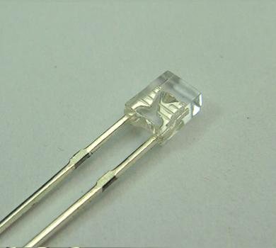 2X3X4MM白发黄长脚发光二极管 直插LED发光二极管