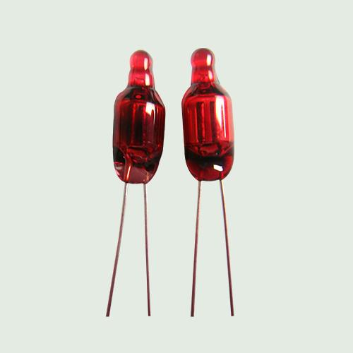 5*13MM大红色氖灯 红色玻壳氖灯