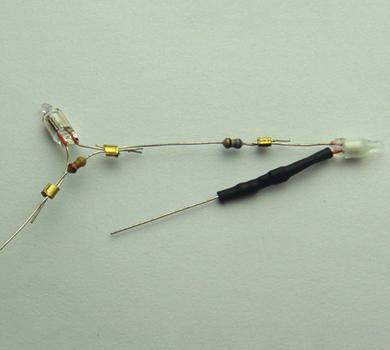 端子连接氖灯  氖灯+电阻+热收缩套管