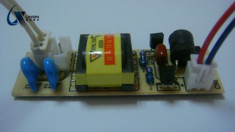 一拖二DC3-24V 裸板 驱动电源  紫外线灯管驱动电源